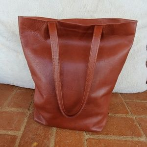 Baggu Brown Leather Tote